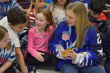 Olympic Gold Medalist Kendall Coyne Returns Home